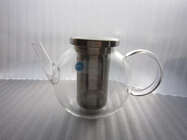 JENAER GLAS(イエナガラス) ステンレスフィルター付ティーポットラウンドS
